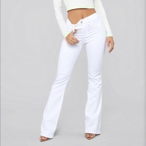 NWT Fashion Nova White Flare Jeans